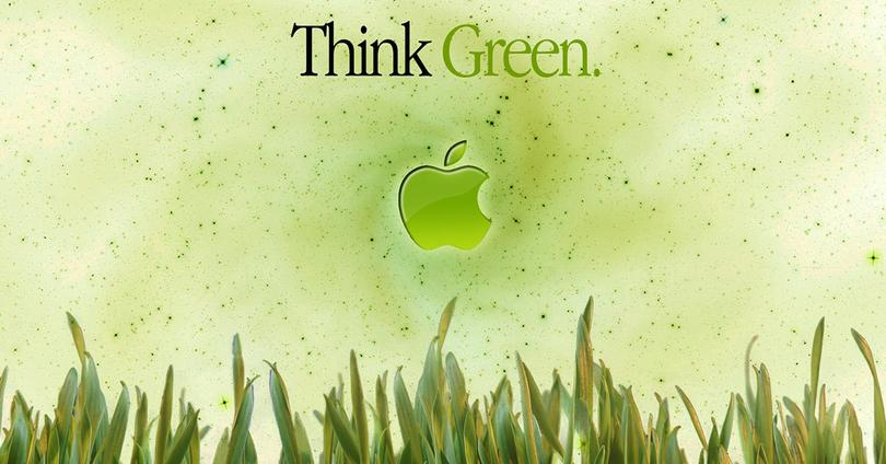 Logo de Apple en color verde