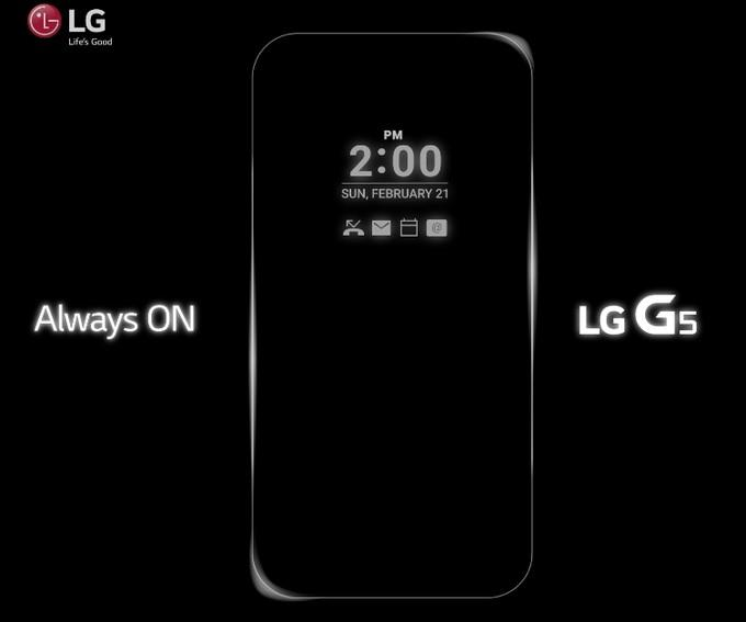 teaser del LG G5 con funcion Always on en pantalla