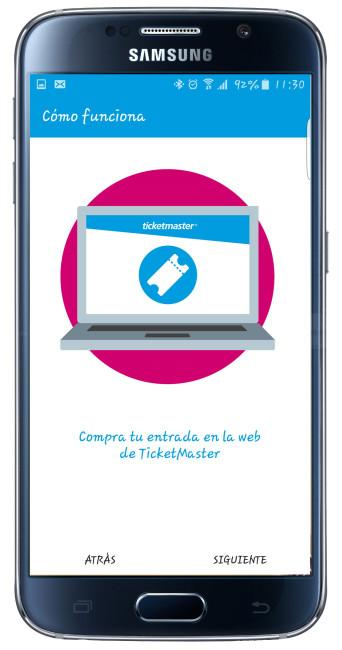 Uso TicketPass for Samsung