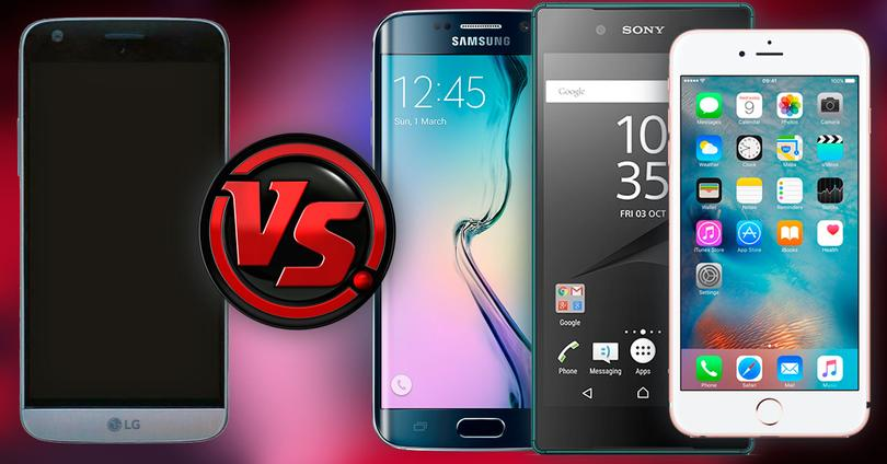 Comparativa LG G5 vs Galaxy S6 edge, Xperia Z5 e iPhone 6s