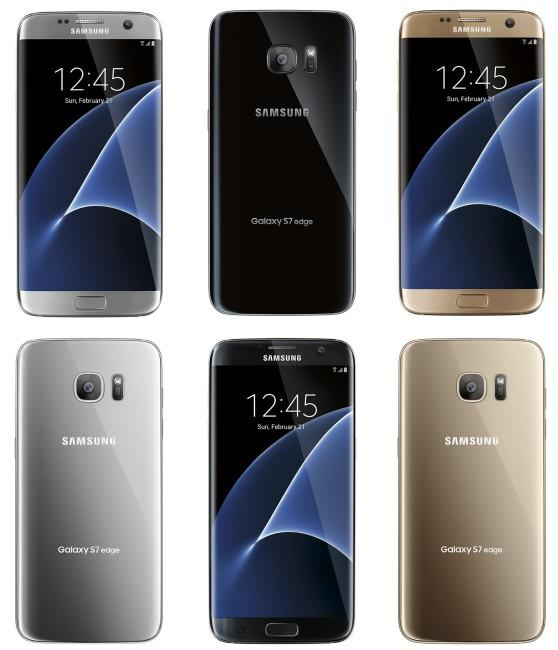 Samsung Galaxy S7 edge renders