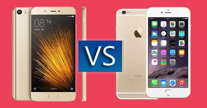 Xiaomi mi 5 frente al iphone 6s
