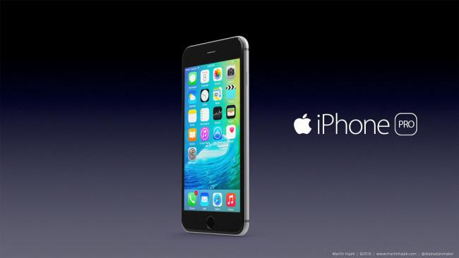 iPhone Pro concepto frontal