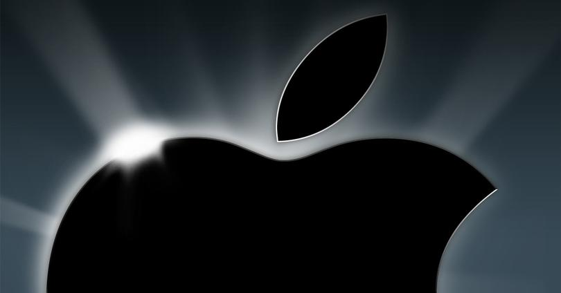 Logo de Apple con luces y sombras