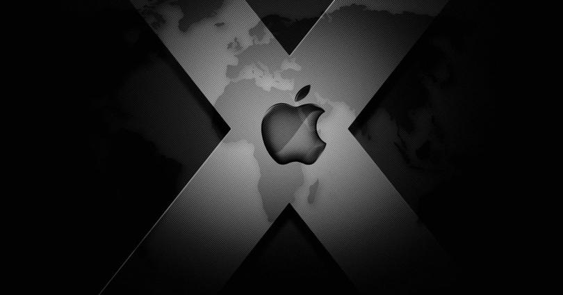 Logotipo de Apple sobre fondo negro