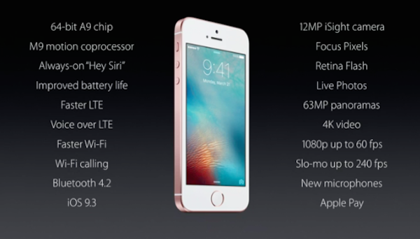 especificaciones iphone se