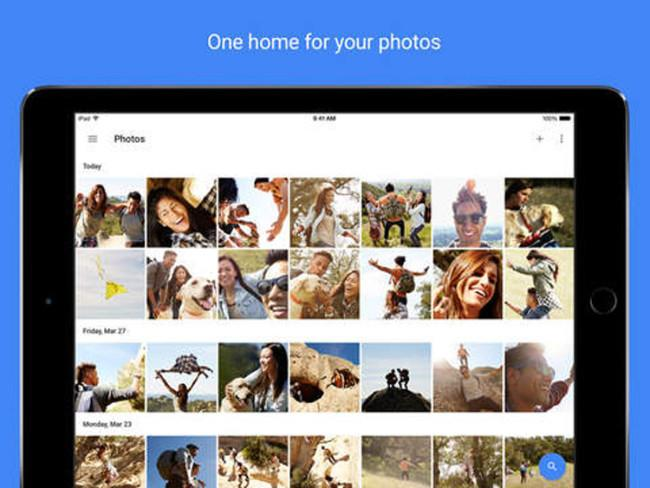 App Google Photos para iOS