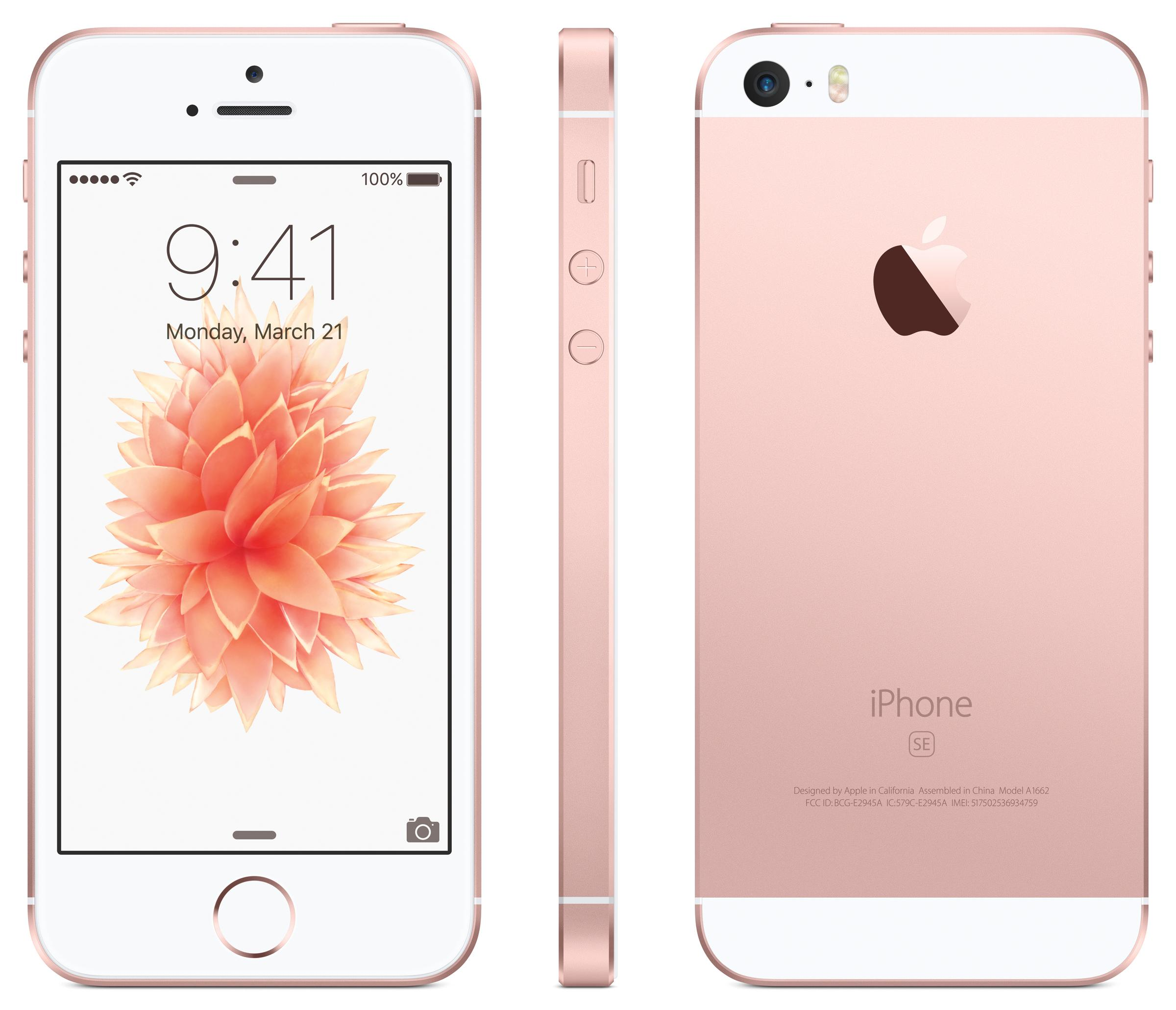iPhone SE en color rosa