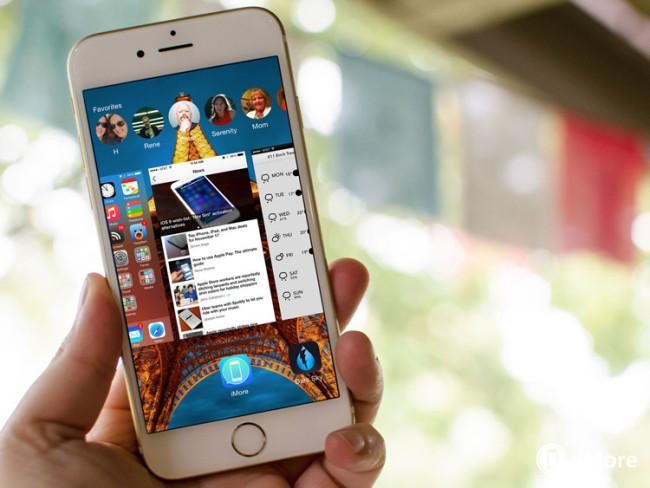 Multitarea de iOS 9 en un iPhone 6