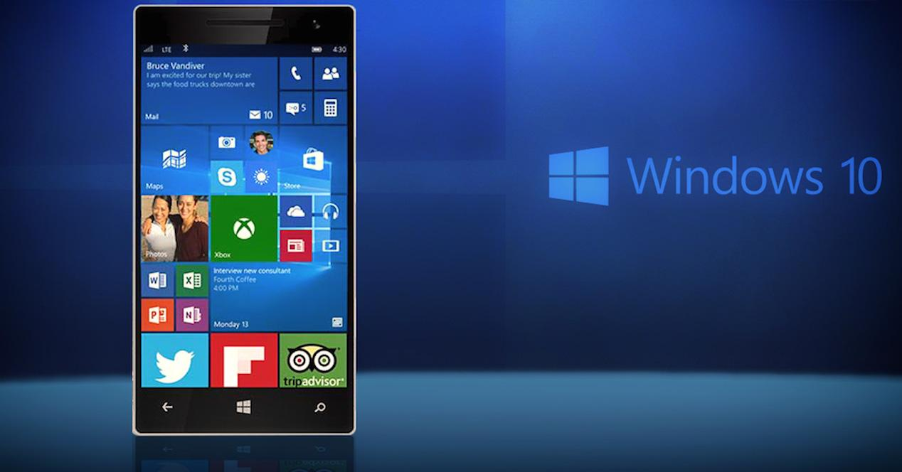 Smartphone con Windows 10 Mobile
