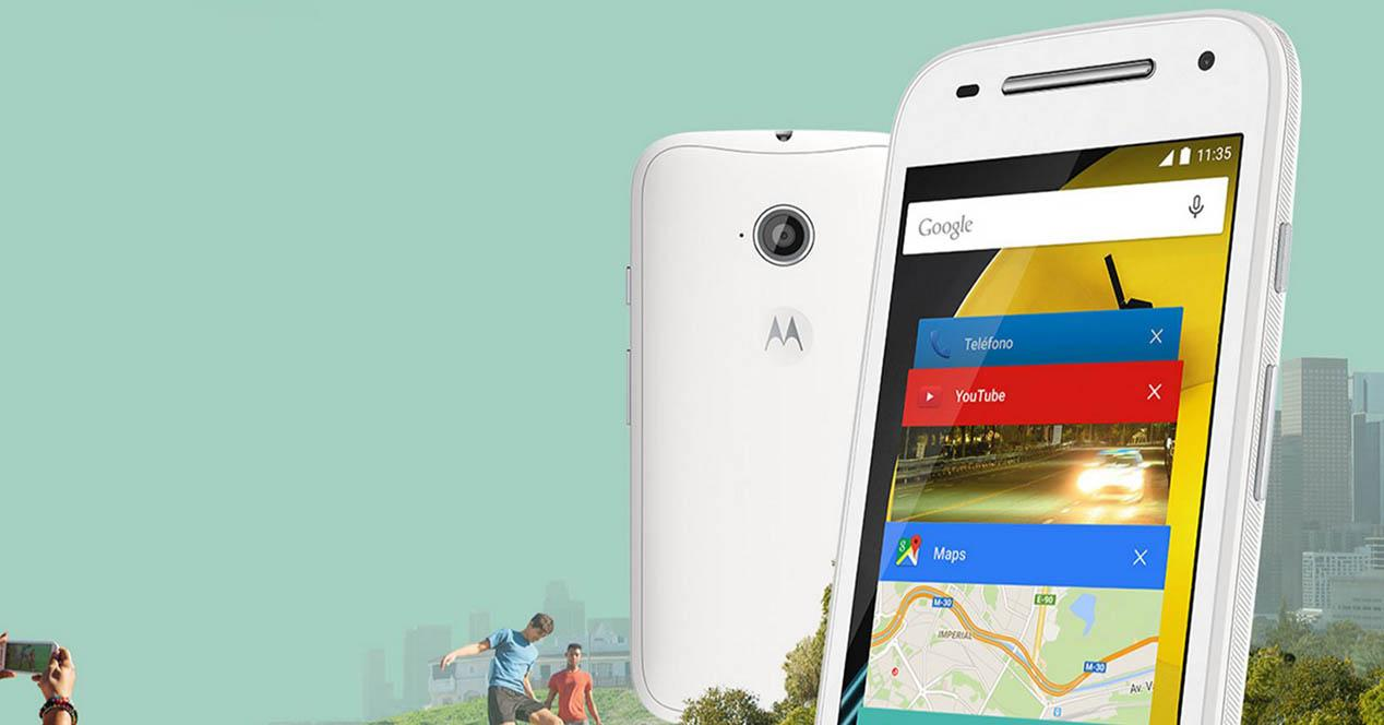 Moto E en color blanco