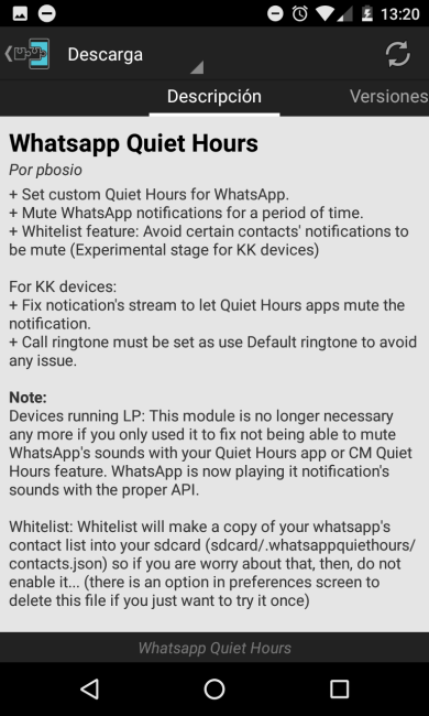 WhatsApp modulo Xposed