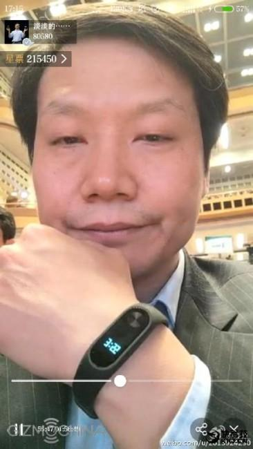 Xioami CEO Lei Jun con Mi Band