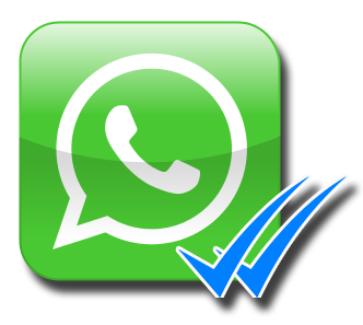 Doble check azul de whatsapp