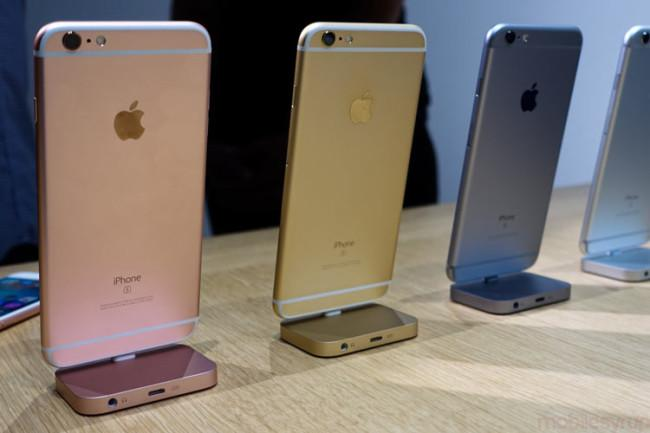 iPhone 6s en distintos colores