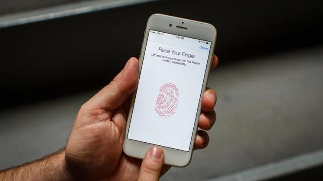 Sensor de huellas Touch ID en iPhone