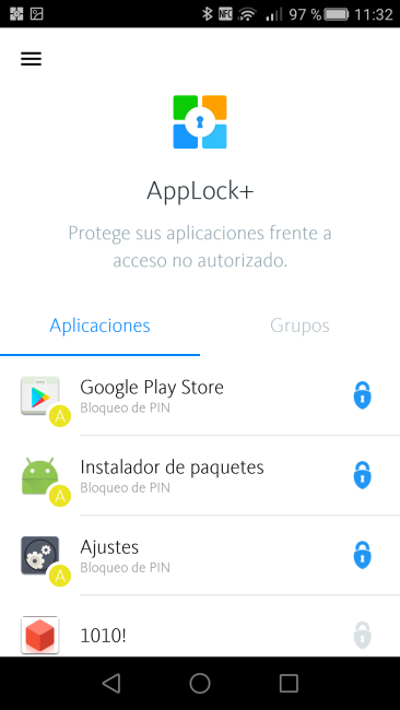 Avira AppLock+ - Lista Apps