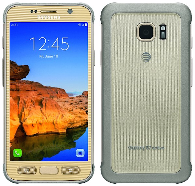 Samsung Galaxy S7 Active de color dorado