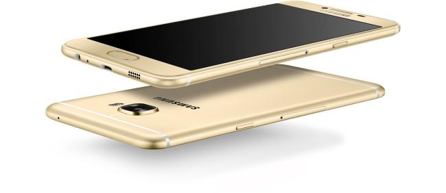 Samsung Galaxy C5 en color dorado