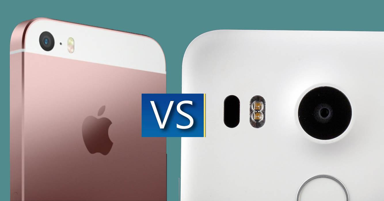 iPhone SE vs Nexus 5X grabacion video