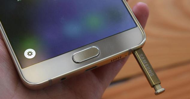 galaxy note 5 con puntero sacado