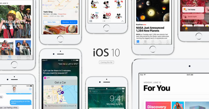 dispositivos ios 10