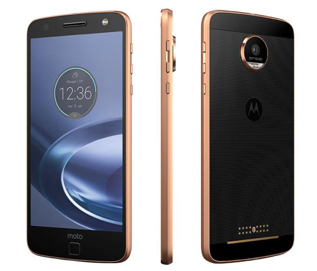 Moto Z Force frontal negro