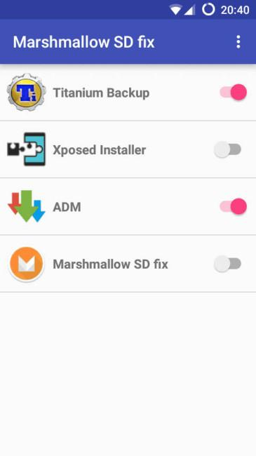 Android Marshmallow solucion sd