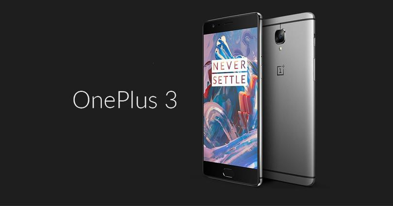 oneplus 3 frontal y trasera