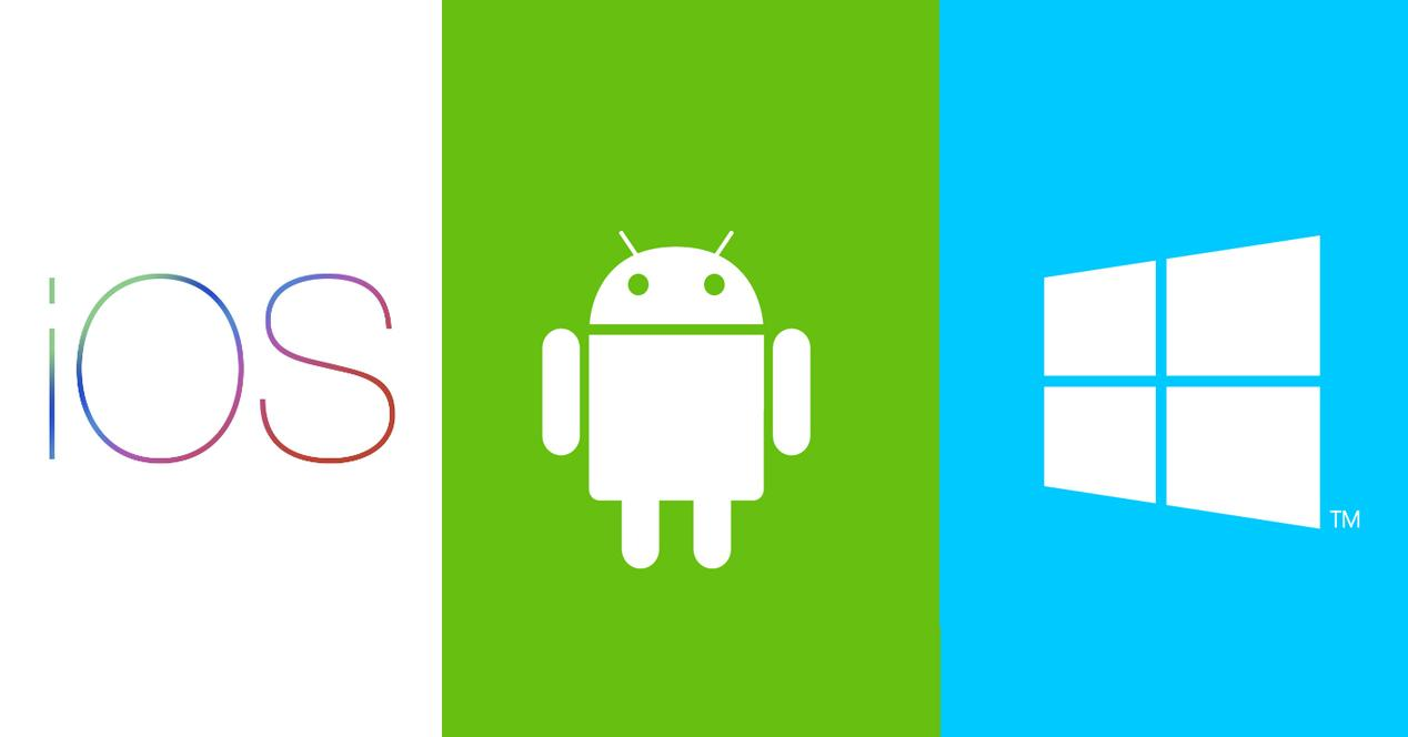 ios android y windows phone