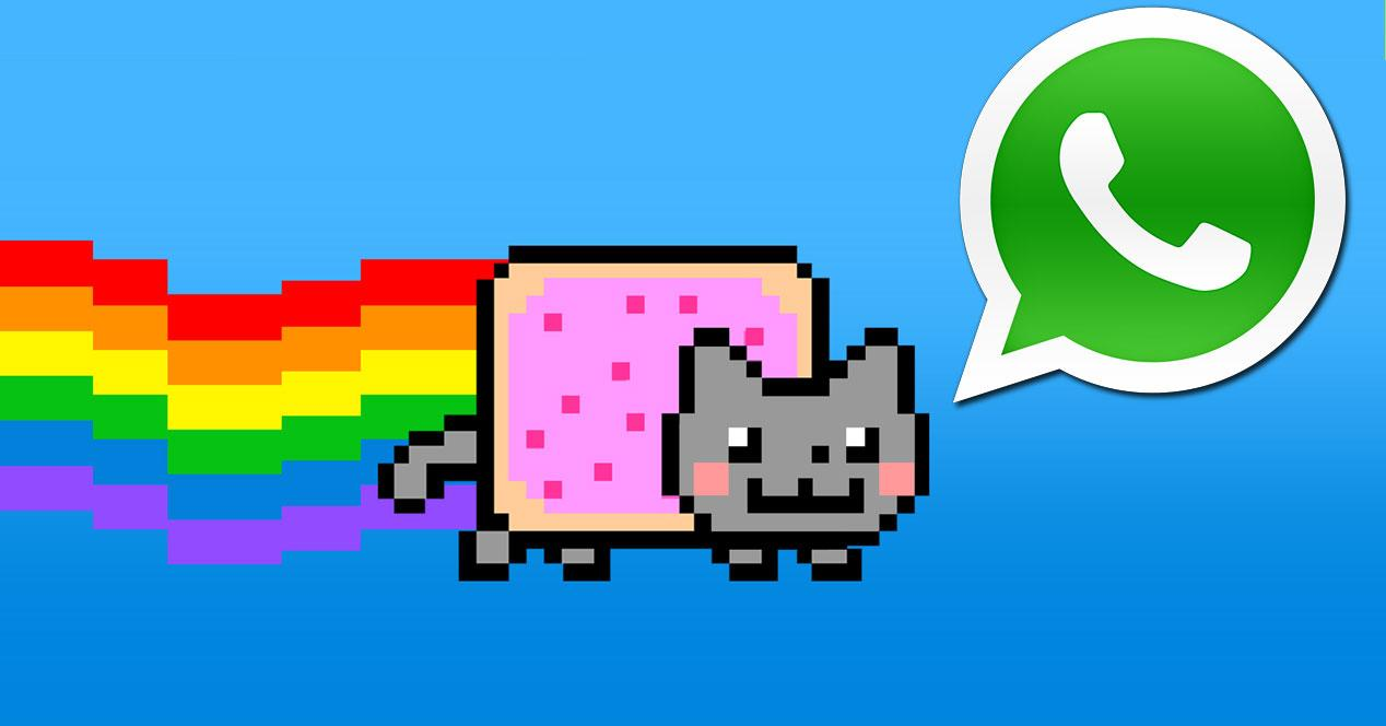 nyan cat con logo de whatsapp
