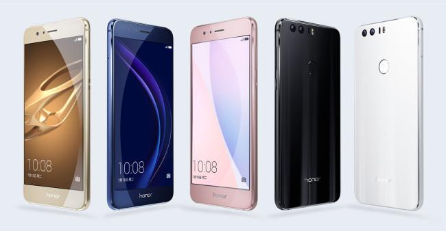 Colores disponibles para el Huawei Honor 8