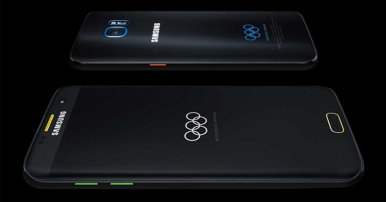 Diseño del Samsung Galaxy S7 Edge Olympic Games Limited Edition