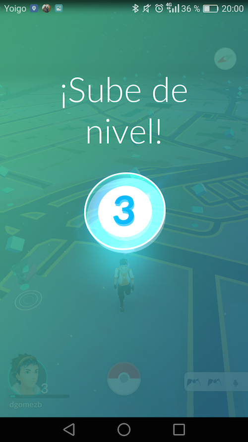 Captura Pokémon GO subida de nivel