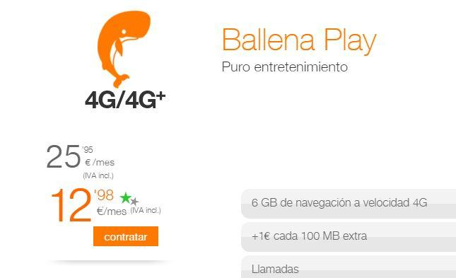 Tarifas orange ballena play