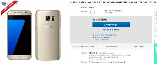 SuperWeekend de eBay galaxy s7