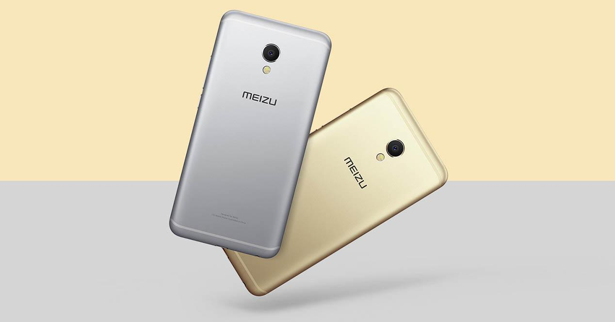 meizu mx6 en color gris y dorado
