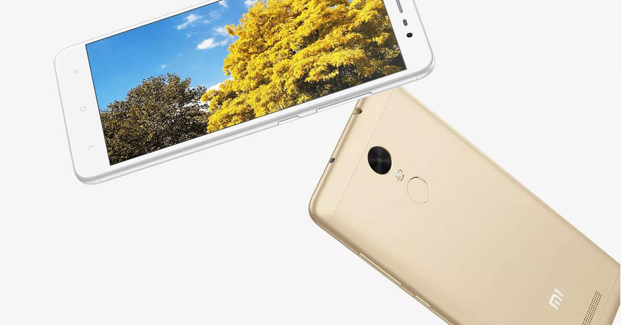redmi note 3 dorado y blanco