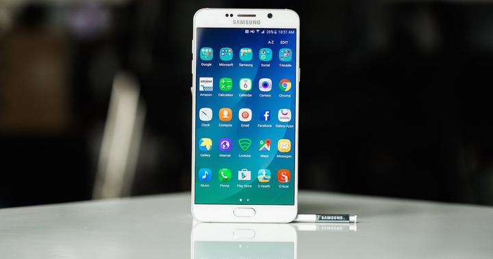 frontal samsung galaxy note 5