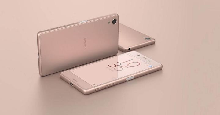 Xperia X de color rosa