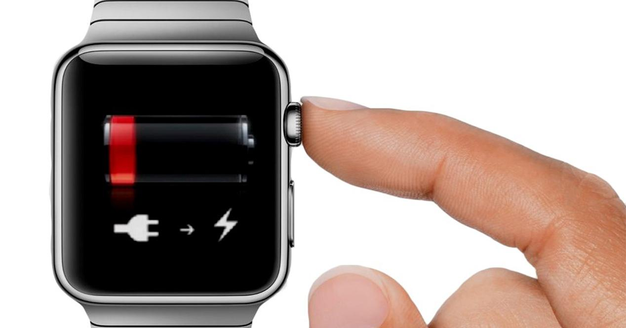 Nivel de batería del Apple Watch