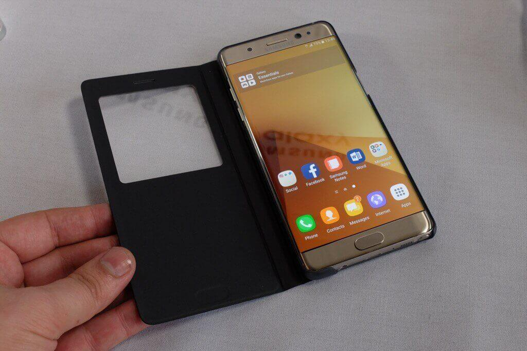 Samsung Galaxy Note 7 funda abierta