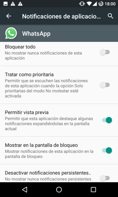 Notificaciones WhatsApp Android 6.0 Marshmallow