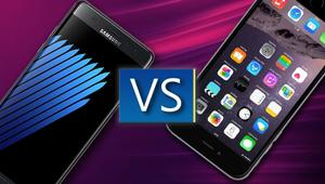 Samsung Galaxy Note 7 VS iPhone 6s Plus: comparativa de características