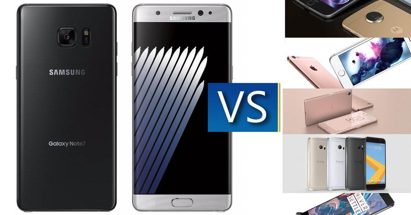 Samsung Galaxy Note 7 vs competencia