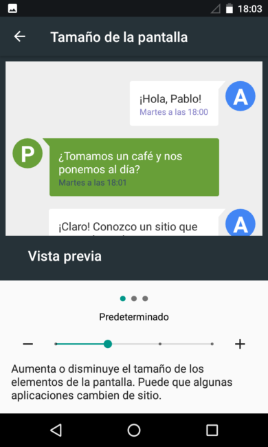 Android 7.0 Nougat - Tamaño normal