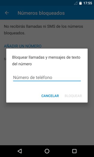 Bloquear número Android 7.0 Nougat