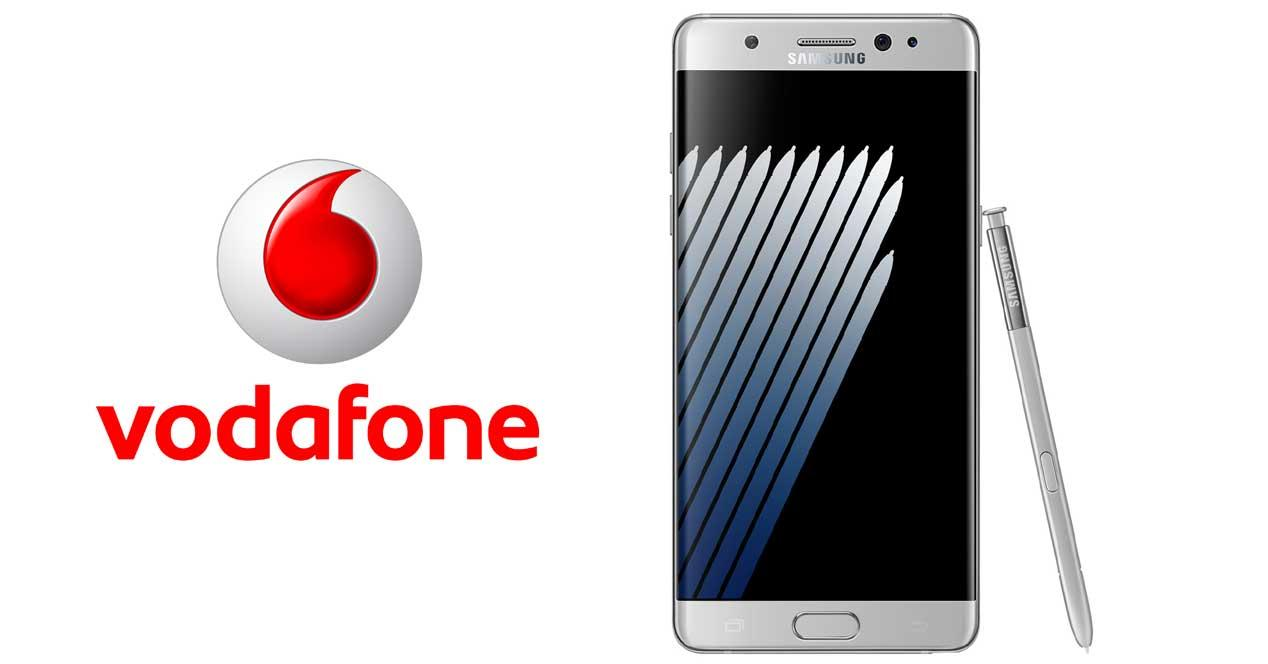 Samsung Galaxy Note 7 en Vodafone