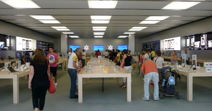 interior de una apple store