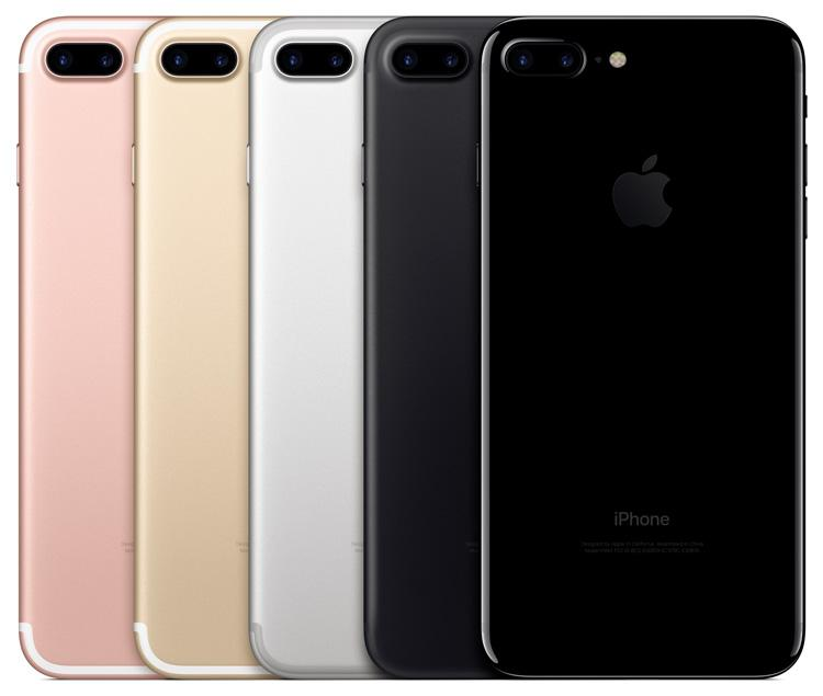 Colores disponibles para el iPhone 7 Plus